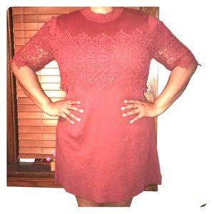 ASOS Curve Crochet Lace Sweater Dress Size 18